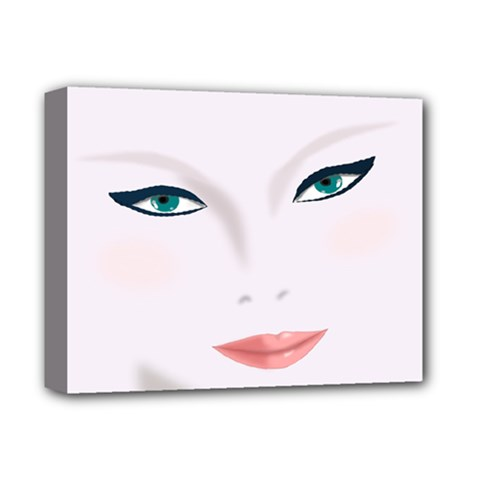 Face Beauty Woman Young Skin Deluxe Canvas 14  X 11  (stretched)