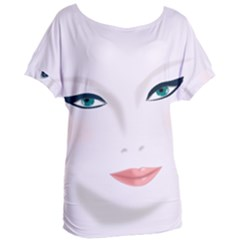 Face Beauty Woman Young Skin Women s Oversized Tee