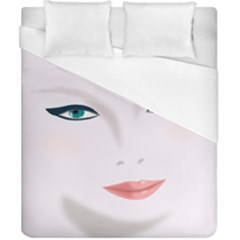 Face Beauty Woman Young Skin Duvet Cover (california King Size)