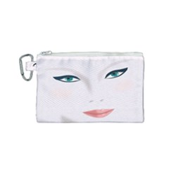 Face Beauty Woman Young Skin Canvas Cosmetic Bag (small)