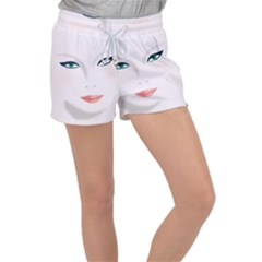 Face Beauty Woman Young Skin Women s Velour Lounge Shorts