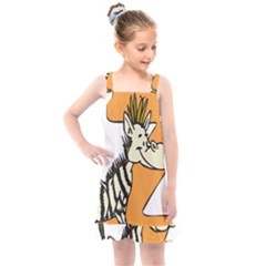 Zebra Animal Alphabet Z Wild Kids  Overall Dress