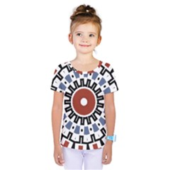 Mandala Art Ornament Pattern Kids  One Piece Tee