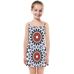 Mandala Art Ornament Pattern Kids Summer Sun Dress