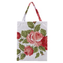 Flower Rose Pink Red Romantic Classic Tote Bag by Samandel