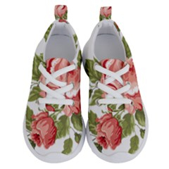 Flower Rose Pink Red Romantic Running Shoes