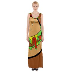 Burger Double Maxi Thigh Split Dress by Samandel