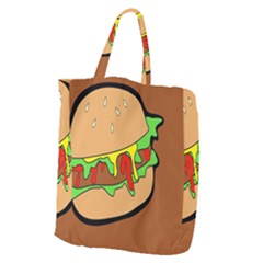 Burger Double Giant Grocery Tote
