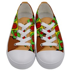 Burger Double Kids  Low Top Canvas Sneakers