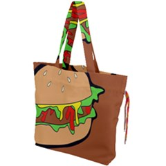 Burger Double Drawstring Tote Bag