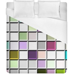 Color Tiles Abstract Mosaic Background Duvet Cover (california King Size)