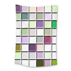 Color Tiles Abstract Mosaic Background Small Tapestry