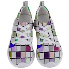 Color Tiles Abstract Mosaic Background Women s Lightweight Sports Shoes