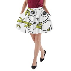 Panda China Chinese Furry A Line Pocket Skirt