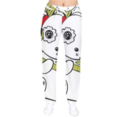 Panda China Chinese Furry Velvet Drawstring Pants