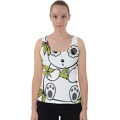 Panda China Chinese Furry Velvet Tank Top