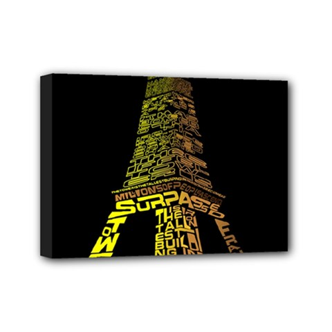 The Eiffel Tower Paris Mini Canvas 7  X 5  (stretched)