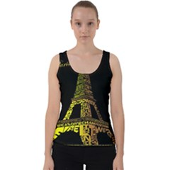 The Eiffel Tower Paris Velvet Tank Top