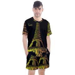 The Eiffel Tower Paris Men s Mesh Tee And Shorts Set by Samandel