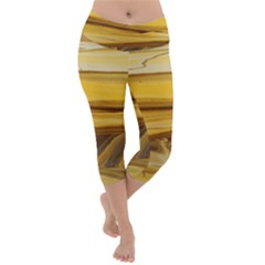 Sand Man Lightweight Velour Capri Yoga Leggings
