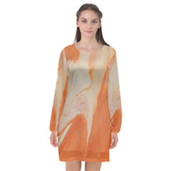 Fire Fall Long Sleeve Chiffon Shift Dress