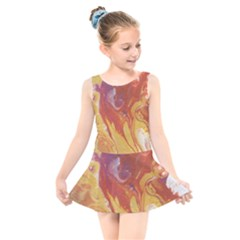 Solar Flare Kids  Skater Dress Swimsuit