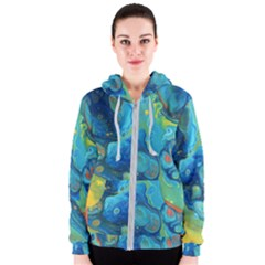 Fire Edge Nebula Women s Zipper Hoodie