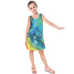 Fire Edge Nebula Kids  Sleeveless Dress