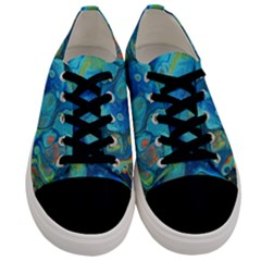 Fire Edge Nebula Men s Low Top Canvas Sneakers