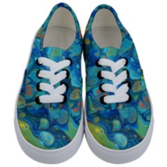 Fire Edge Nebula Kids  Classic Low Top Sneakers