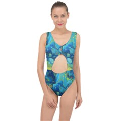 Fire Edge Nebula Center Cut Out Swimsuit