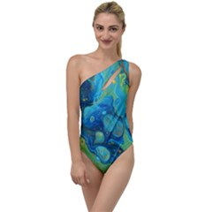 Fire Edge Nebula To One Side Swimsuit
