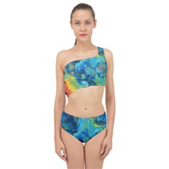 Fire Edge Nebula Spliced Up Two Piece Swimsuit