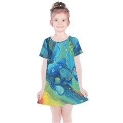 Fire Edge Nebula Kids  Simple Cotton Dress