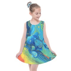 Fire Edge Nebula Kids  Summer Dress