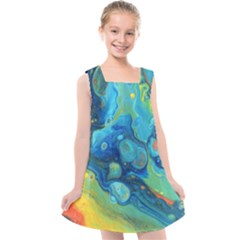 Fire Edge Nebula Kids  Cross Back Dress
