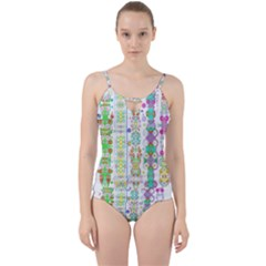 Swordsneonlight Cut Out Top Tankini Set by plaides
