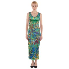 Edge Of The Universe Fitted Maxi Dress