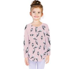 Ice Cream Pattern Kids  Long Sleeve Tee by Valentinaart