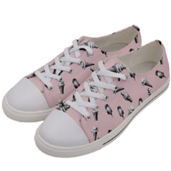 Ice Cream Pattern Women s Low Top Canvas Sneakers by Valentinaart