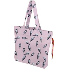 Ice Cream Pattern Drawstring Tote Bag by Valentinaart