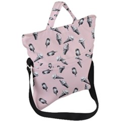 Ice Cream Pattern Fold Over Handle Tote Bag