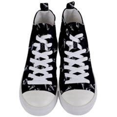 Ice Cream Pattern Women s Mid Top Canvas Sneakers