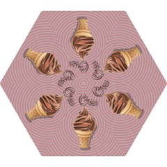 Pop Art Ice Cream Mini Folding Umbrellas by Valentinaart