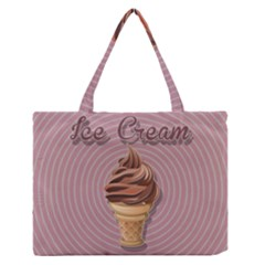 Pop Art Ice Cream Zipper Medium Tote Bag by Valentinaart