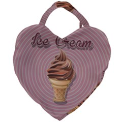 Pop Art Ice Cream Giant Heart Shaped Tote by Valentinaart
