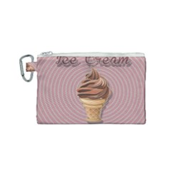 Pop Art Ice Cream Canvas Cosmetic Bag (small) by Valentinaart