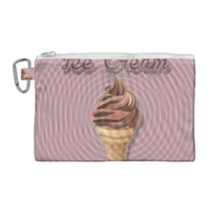 Pop Art Ice Cream Canvas Cosmetic Bag (large) by Valentinaart