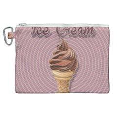 Pop Art Ice Cream Canvas Cosmetic Bag (xl)