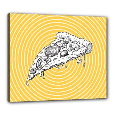 Pop Art Pizza Canvas 24  X 20  (stretched) by Valentinaart